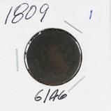 1809-CLASSIC HEAD HALF CENT G-AG