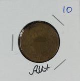 1868 - TWO CENT PIECE - AU+