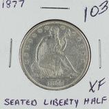 1877 - LIBERTY SEATED HALF DOLLAR - XF