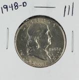 1948-D FRANKLIN HALF DOLLAR - BU