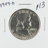 1949-D FRANKLIN HALF DOLLAR - UNC