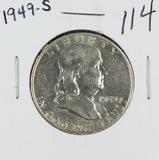 1949-S FRANKLIN HALF DOLLAR - UNC