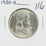 1950-D FRANKLIN HALF DOLLAR - UNC
