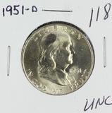 1951-D FRANKLIN HALF DOLLAR -UNC