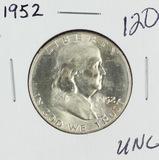 1952 - FRANKLIN HALF DOLLAR - UNC