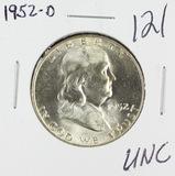 1952-D FRANKLIN HALF DOLLAR - UNC