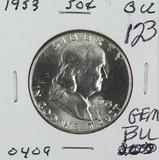 1953 - FRANKLIN HALF DOLLAR - GEM BU
