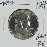 1953-D FRANKLIN HALF DOLLAR - GEM BU