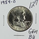1954-D FRANKLIN HALF DOLLAR - GEM BU