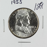 1955 - FRANKLIN HALF DOLLAR - GEM BU