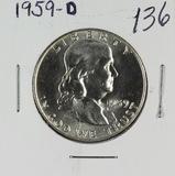 1959-D FRANKLIN HALF DOLLAR - GEM