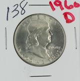 1960-D FRANKLIN HALF DOLLAR - GEM