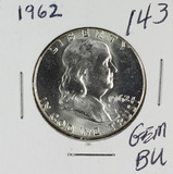1962 - FRANKLIN HALF DOLLAR - GEM BU