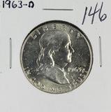 1963-D FRANKLIN HALF DOLLAR - GEM BU