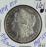 1878 - 8 TAIL FEATHERS ANACS MS61 - MORGAN DOLLAR - AU