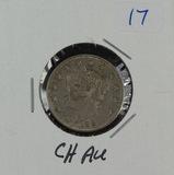 1883 - NC SHIELD NICKEL - CH AU