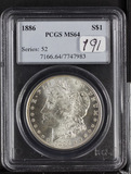 1886 PCGS MS64 MORGAN DOLLAR