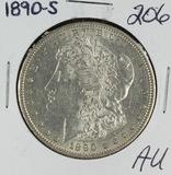 1890-S MORGAN DOLLAR - AU