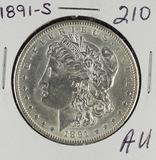 1891-S MORGAN DOLLAR - AU