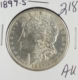 1897-S MORGAN DOLLAR - AU