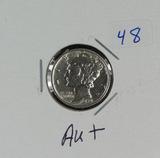 1931-S MERCURY DIME - AU+