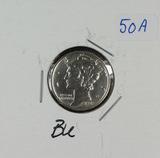 1938-D MERCURY DIME - BU