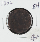 1802 - DRAPED BUST LARGE CENT - G+