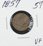 1857 - FLYING EAGLE CENT - VF