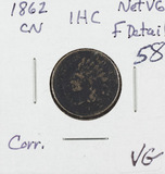 1862 - CN INDIAN HEAD CENT - VG - CORROSION
