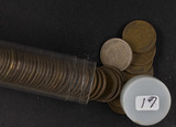 1 - ROLL (50 COINS) LINCOLN WHEAT EAR CENTS