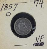 1857-O LIBERTY SEATED DIME - VF