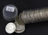 1 - ROLL (50 COINS) 1964-D ROOSEVELT DIMES