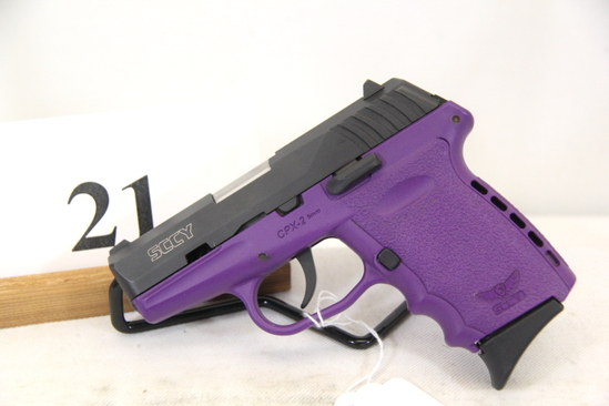 SCCY, Model CPX-2, Semi Auto Pistol, 9 mm cal,