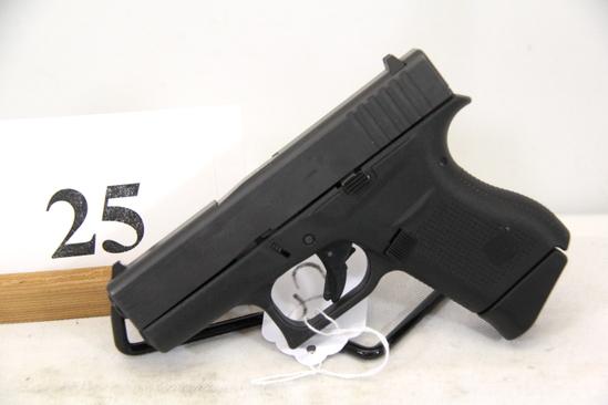 Glock, Model 43, Semi Auto Pistol, 9 mm cal,