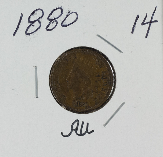 1880 - INDIAN HEAD CENT -AU