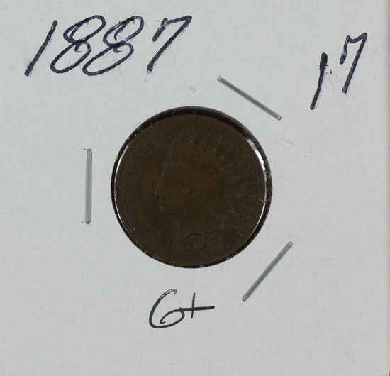 1887 - INDIAN HEAD CENT - G+