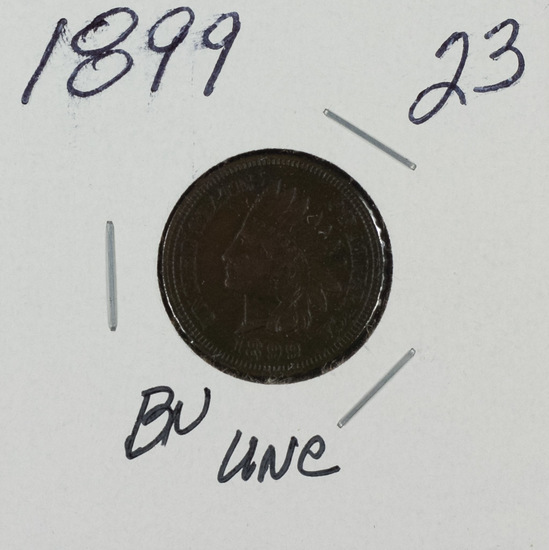 1899 -INDIAN HEAD CENT - BRN UNC