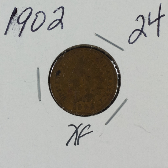 1902 - INDIAN HEAD CENT - XF