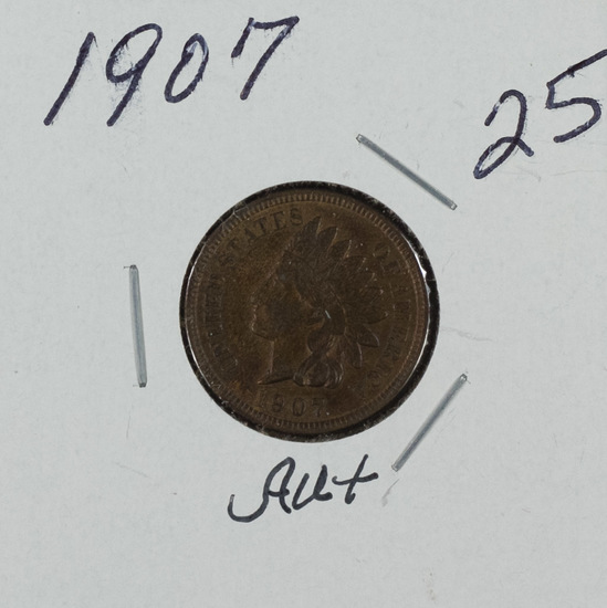 1907 - INDIAN HEAD CENT - AU+