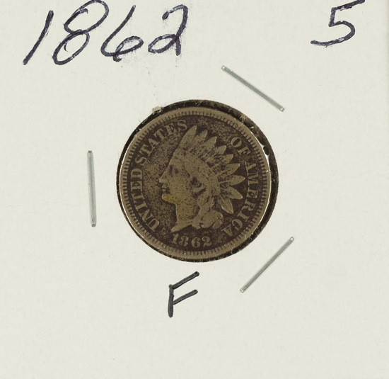 1862 - INDIAN HEAD CENT - F