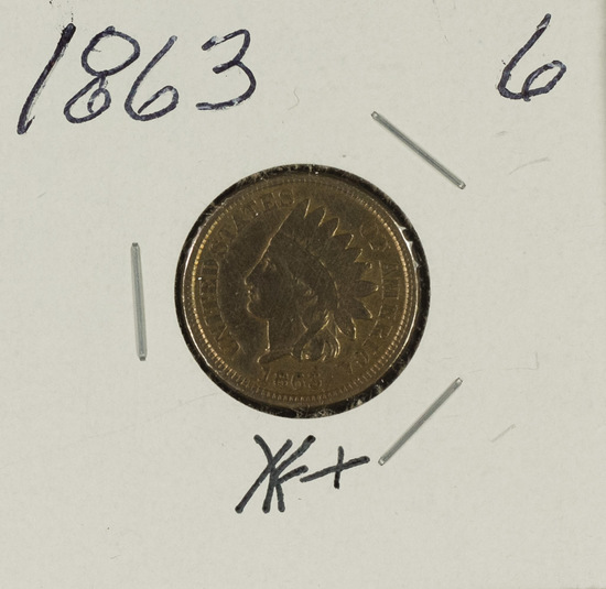 1863 - INDIAN HEAD CENT - XF+