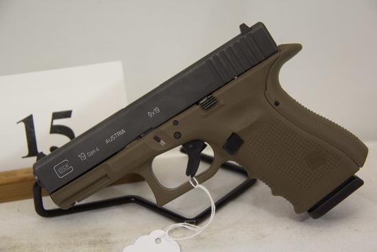 Glock, Model 19 Gen 4, Semi Auto Pistol, 9 mm cal,