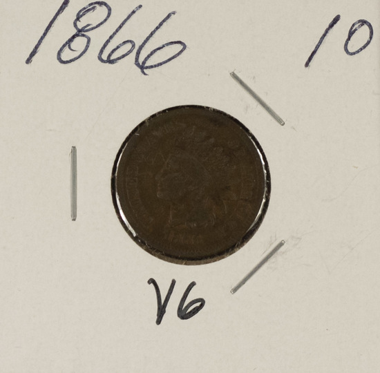 1866 INDIAN HEAD CENT - VG