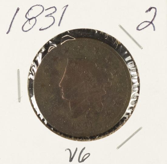 1831 MATRON HEAD LARGE CENT - VG