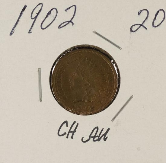 1902 INDIAN HEAD CENT - CH AU