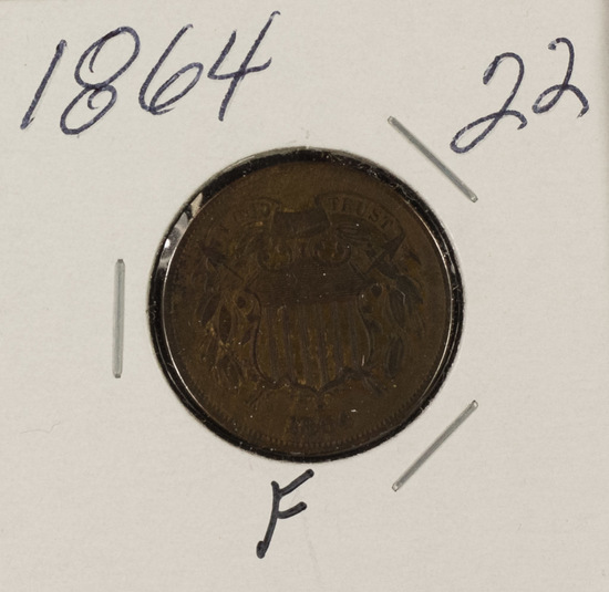 1864 TWO CENT PIECE - F