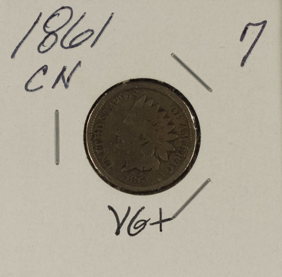 1861 CN INDIAN HEAD CENT - VG+