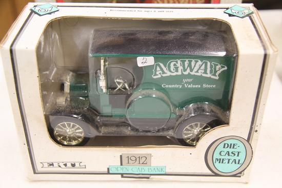 1/25 ERTL 1912 Ford Open Cab Bank, AGWAY