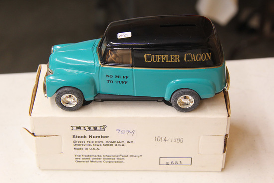 1/25 ERTL  1950 Chevy Panel Truck Bank