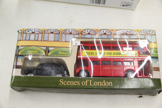 Harrods Knightsbridge Scenes of London, Bus and